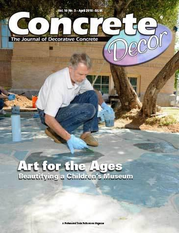 Vol. 10 Issue 3 - April 2010 Back Issues Concrete Decor Marketplace