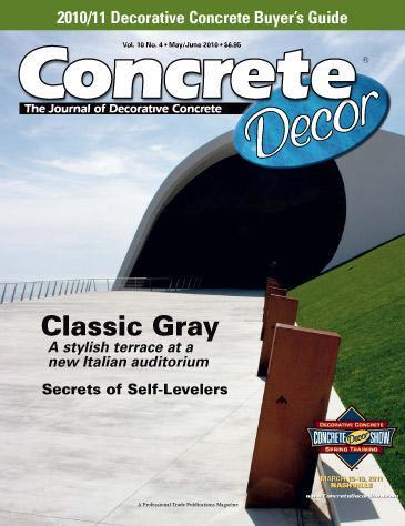 Vol. 10 Issue 4 - May/June 2010 Back Issues Concrete Decor Marketplace