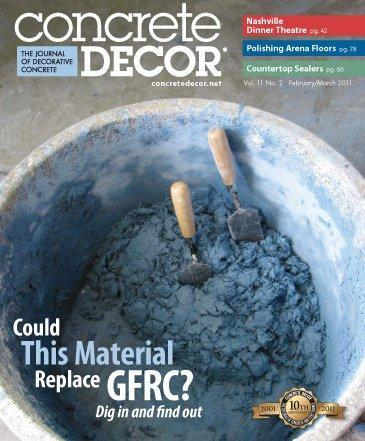 Vol. 11 Issue 2 - February/March 2011 - Concrete Decor Marketplace - Concrete Decor Marketplace