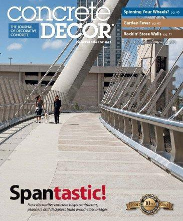 Vol. 11 Issue 6 - August/September 2011 Back Issues Concrete Decor Store