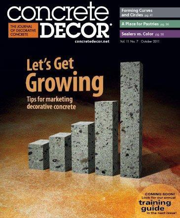 Vol. 11 Issue 7 - October 2011 Back Issues Concrete Decor Store