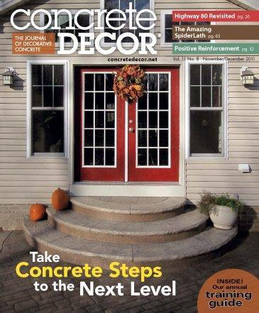 Vol. 11 Issue 8 - November/December 2011 Back Issues Concrete Decor Store