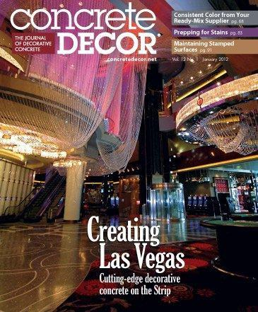 Vol. 12 Issue 1 - January 2012 Back Issues Concrete Decor Store