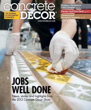 Vol. 12 Issue 3 - April 2012 Back Issues Concrete Decor Store