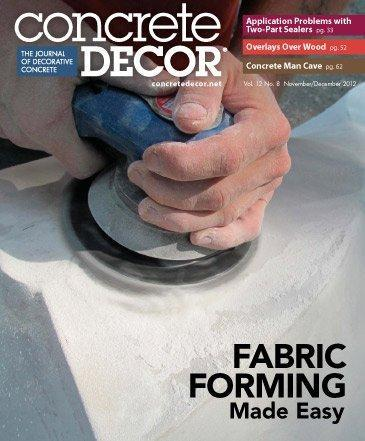 Vol. 12 Issue 8 - November/December 2012 Back Issues Concrete Decor Store