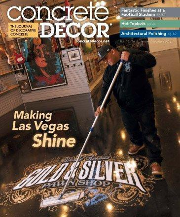 Vol. 13 Issue 1 - January/February 2013 Back Issues Concrete Decor Store