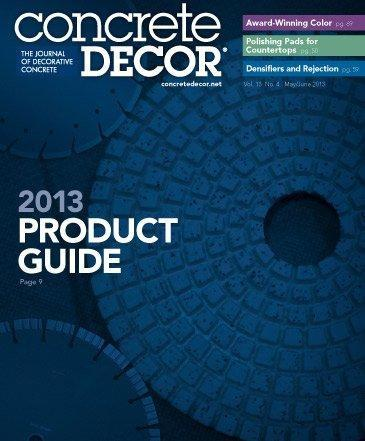 Vol. 13 Issue 4 - May/June 2013 Back Issues Concrete Decor Store