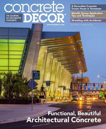 Vol. 14 Issue 4 - May/June 2014 Back Issues Concrete Decor Store