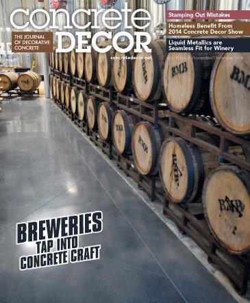 Vol. 14 Issue 8 - November/December 2014 Back Issues Concrete Decor Store