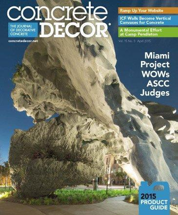 Vol. 15 Issue 3 - April 2015 Back Issues Concrete Decor Store