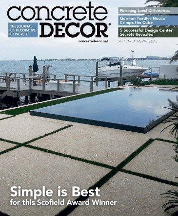 Vol. 15 Issue 4 - May/June 2015 Back Issues Concrete Decor Store