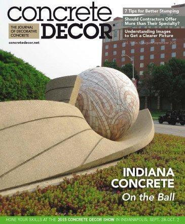 Vol. 15 Issue 6 - August/September 2015 Back Issues Concrete Decor Store