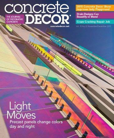 Vol. 15 Issue 8 - November/December 2015 Back Issues Concrete Decor Store