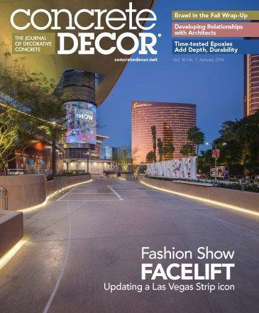 Vol. 16 Issue 1 - January 2016 Back Issues Concrete Decor Store