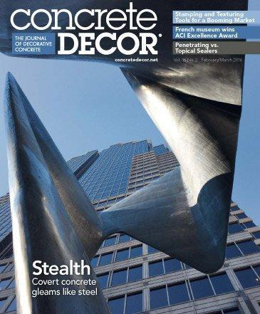Vol. 16 Issue 2 - February/March 2016 Back Issues Concrete Decor Store