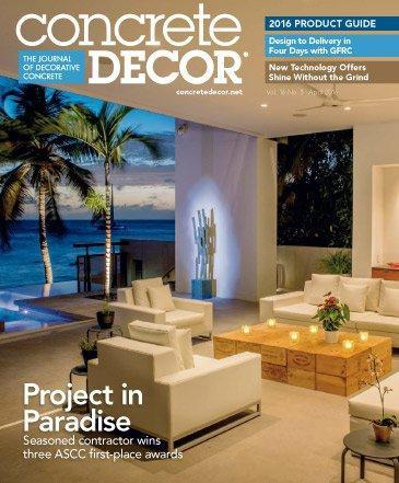 Vol. 16 Issue 3 - April 2016 Back Issues Concrete Decor Store