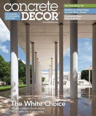 Vol. 16 Issue 4 - May/June 2016 Back Issues Concrete Decor Store