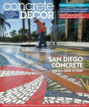 Vol. 16 Issue 6 - August/September 2016 Back Issues Concrete Decor Store