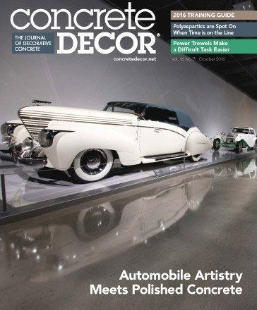 Vol. 16 Issue 7 - October 2016 Back Issues Concrete Decor Store