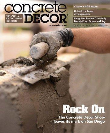 Vol. 16 Issue 8 - November/December 2016 - Concrete Decor Marketplace - Concrete Decor Marketplace