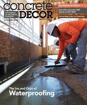 Vol. 17 Issue 1 - January 2017 - Concrete Decor Marketplace - Concrete Decor Marketplace