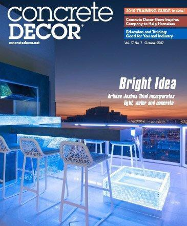 Vol. 17 Issue 7 - October 2017 Back Issues Concrete Decor Marketplace