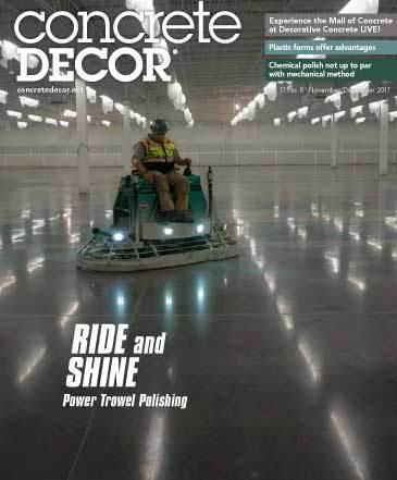 Vol. 17 Issue 8 - November/December 2017 - Concrete Decor Marketplace - Concrete Decor Marketplace