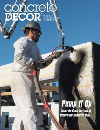 Vol. 18 Issue 2 - February/March 2018 Back Issues Concrete Decor Marketplace