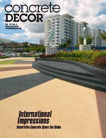 Vol. 18 Issue 4 - May/June 2018 Back Issues Concrete Decor Marketplace