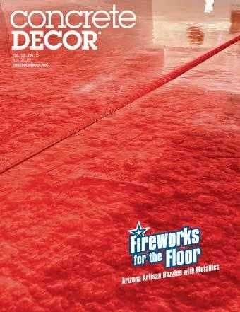 Vol. 18 Issue 5 - July 2018 Back Issues Concrete Decor Marketplace