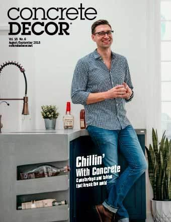 Vol. 18 Issue 6 - August/September 2018 Back Issues Concrete Decor Marketplace