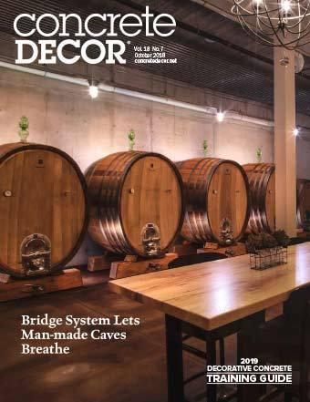 Vol. 18 Issue 7 - October 2018 Back Issues Concrete Decor Marketplace