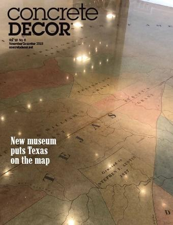 Vol. 18 Issue 8 - November/December 2018 Back Issues Concrete Decor Marketplace
