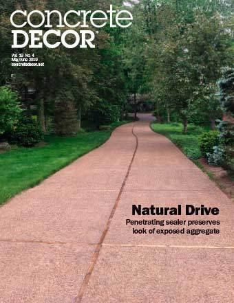 Vol. 19 Issue 4 - May/June 2019 Back Issues Concrete Decor Marketplace