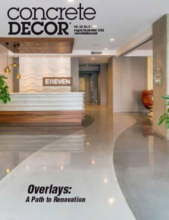 Vol. 19 Issue 6 - August/September 2019 Back Issues Concrete Decor Marketplace