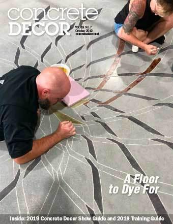 Vol. 19 Issue 7 - October 2019 Back Issues Concrete Decor Marketplace