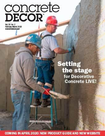 Vol. 20 Issue 2 - February/March 2020 Back Issues Concrete Decor Marketplace