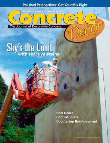 Vol. 6 Issue 3 - June/July 2006 Back Issues Concrete Decor Marketplace