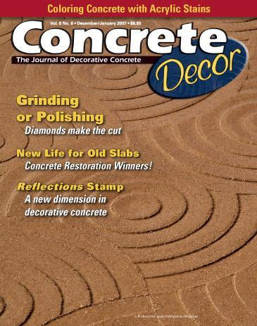 Vol. 6 Issue 6 - December 2006/January 2007 Back Issues Concrete Decor Store