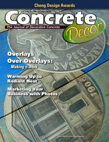 Vol. 7 Issue 1 - February/March 2007 Back Issues Concrete Decor Store