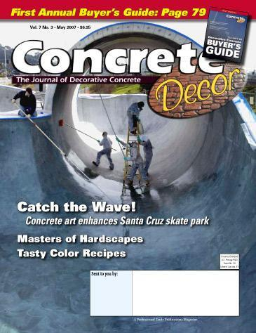 Vol. 7 issue 3 - May 2007 Back Issues Concrete Decor Store