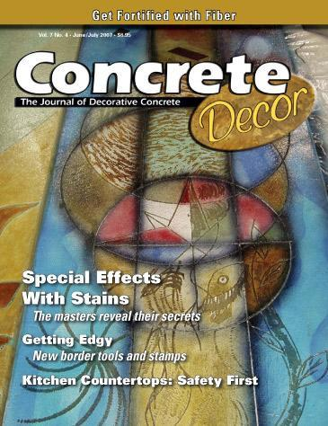 Vol. 7 Issue 4 - June/July 2007 Back Issues Concrete Decor Store