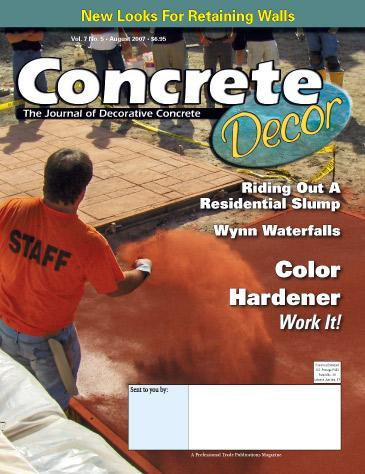 Vol. 7 Issue 5 - August 2007 Back Issues Concrete Decor Store