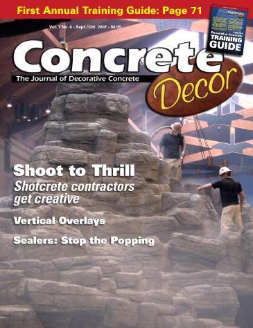 Vol. 7 Issue 6 - September/October 2007 Back Issues Concrete Decor Store