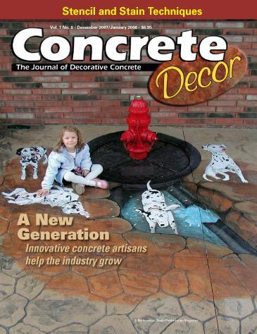 Vol. 7 Issue 8 - December 2007/January 2008 Back Issues Concrete Decor Store