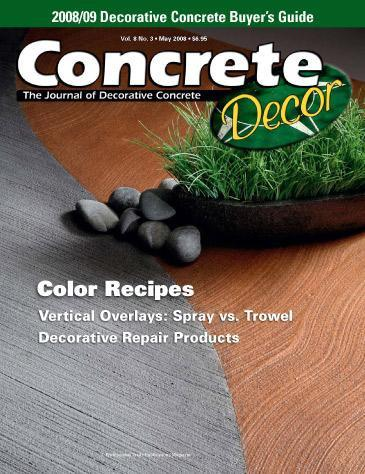 Vol. 8 Issue 3 - May 2008 Back Issues Concrete Decor Store
