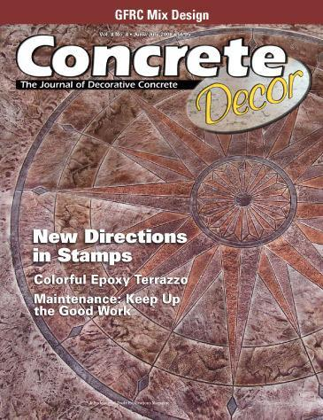 Vol. 8 Issue 4 - June/July 2008 Back Issues Concrete Decor Store