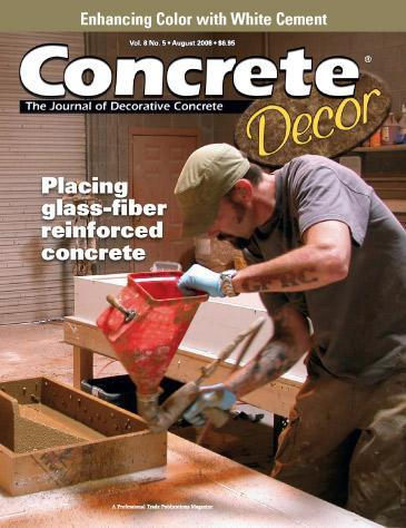 Vol. 8 Issue 5 - August 2008 Back Issues Concrete Decor Store