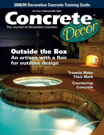 Vol. 8 Issue 6 - September/October 2008 Back Issues Concrete Decor Store