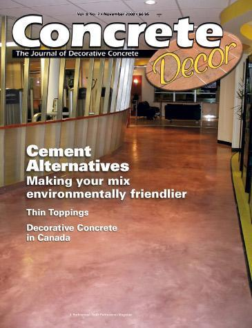 Vol. 8 Issue 7 - November 2008 Back Issues Concrete Decor Store